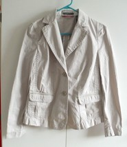 Womans Ladies Jacket Beige Size Small - $1.97
