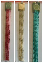 Holiday Christmas Garland beads  Red Green  18 feet   5.5m - $2.50