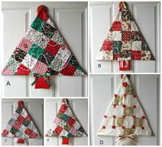 Holiday Christmas Tree Hang on door New kind of wreath Apartments Dorms ... - $14.65