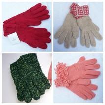 Gloves Liz Claiborne Red Beige Peach - $7.99