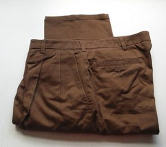 Mens Pants St. Johns Bay Brown Relaxed Fit Brown 38 x 32 - $9.99