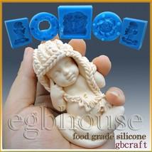 3D Silicone sugar/fondant/chocolate/soap Mold-Lifelike Baby Mia(2 parts ... - $50.78