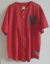 Majestic Genuine Merchandise button-down NY Yankees baseball jersey Nutt 3 XL - $28.22