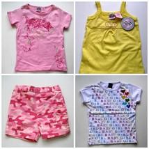 Girls Summer Shirt & Shorts Pink Yellow Heart 12m  5/6  10/12  14/16 - $3.99