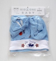 BABY BOYS BLUE BEANIE HAT & BOOTIES SET New Kid Zone Size 0-6 months - $4.94