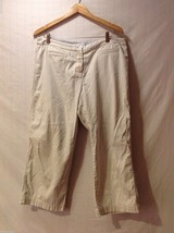 Tommy Hilfiger Womens Light Tan Khaki Capris, Size 14