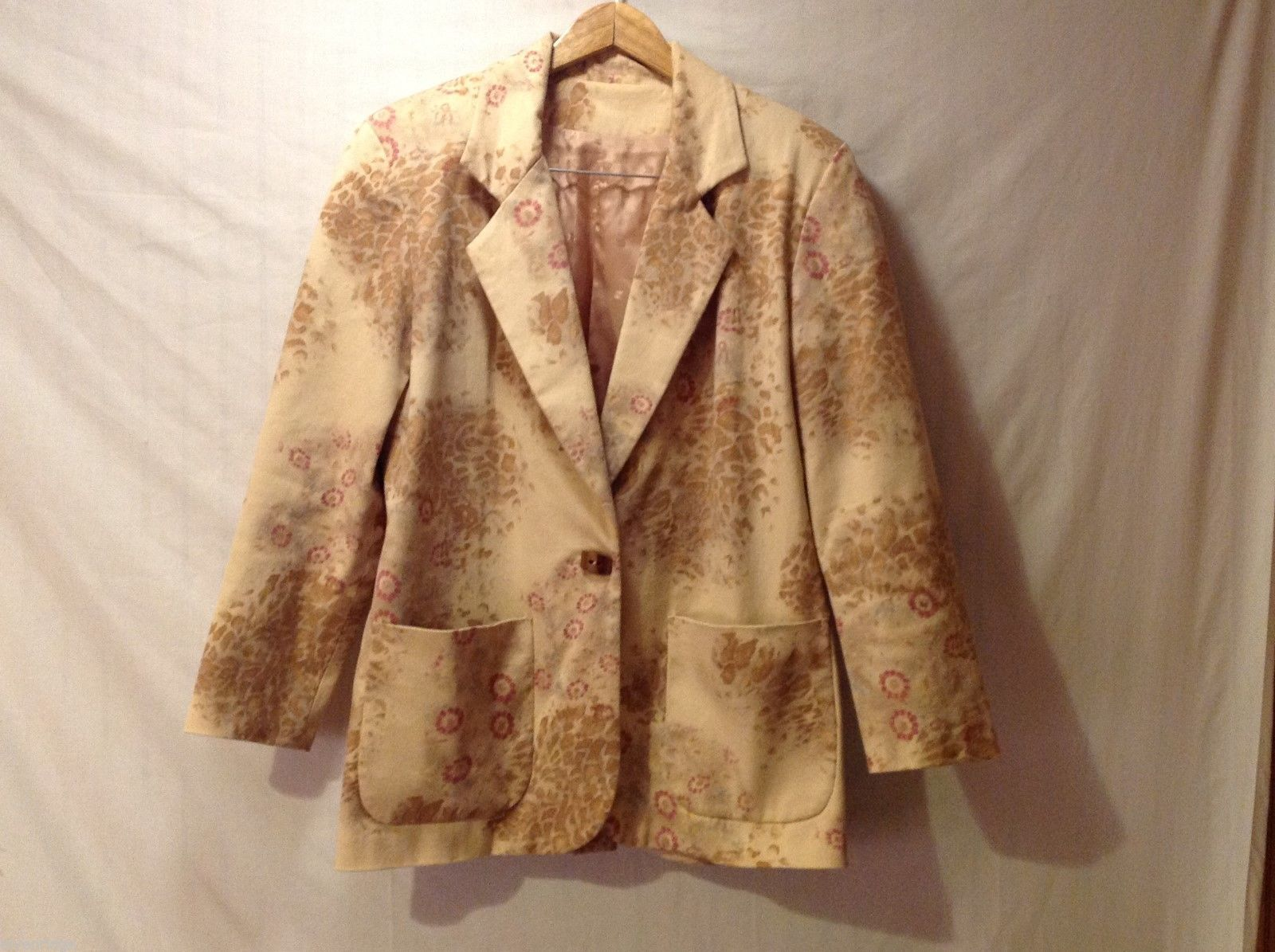 Women's Floral Blazer, See measurements for size