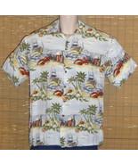 CAMPIA MODA Hawaiian Shirt Lobsters Light Blue Medium - $21.95