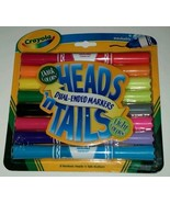 8 PC Crayola Heads n Tails Dual-Ended Markers Dark & Light Colors Double... - $6.92