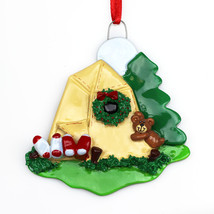Camping Personalized Christmas Tree Ornament - $10.84