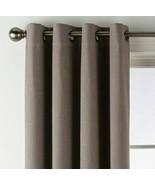 (1) JCP Liz Claiborne Holland Linen Titanium 100% BLACKOUT Grommet 50x84... - $39.79