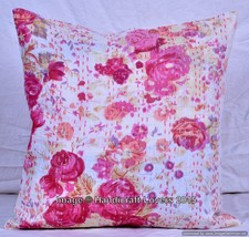 Indian Kantha Cushion Cover Decorative Pillow T... - $5.89