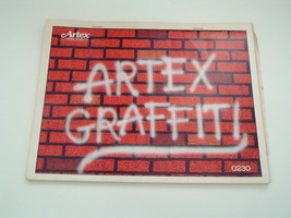 vintage Artex iron on transfer book 10 pages of large graffiti style tra... - $35.89