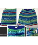 Harold's Tribal Design Skirt NWT Size 12 Blue Red Green - $12.99