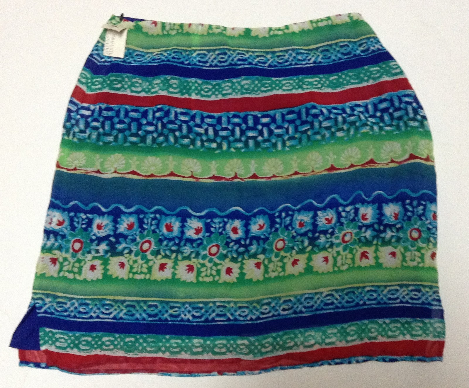 Harold's Tribal Design Skirt NWT Size 12 Blue Red Green