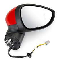 Electric Wing Door Mirror Painted Red Right Driver For Ford Fiesta Mk7 Car - $133.31
