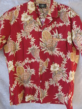 Royal Creation Men's Large Pineapple & Hibiscus Flower Hawaiian S/Sleeve... - $18.15