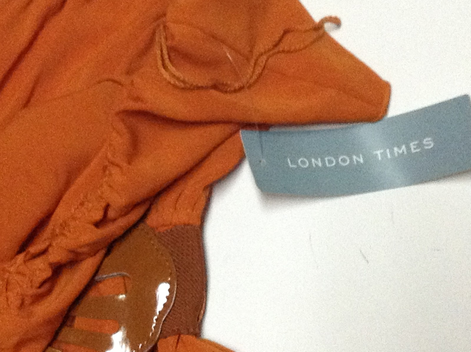 London Times Halter Dress NWT Size 10 Orange