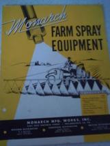 Monarch Farm Spray Equipment Catalog 1950 - $6.99