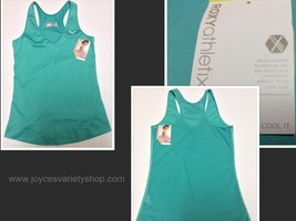 Roxy Athletix Tank Top NWT Size L Cool Wick Work Out Aqua Color - $14.99