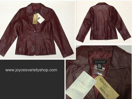 Dialogue red leather jacket thumb200