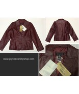Dialogue 100% Leather Jacket NWT Size S Maroon Red - $34.99