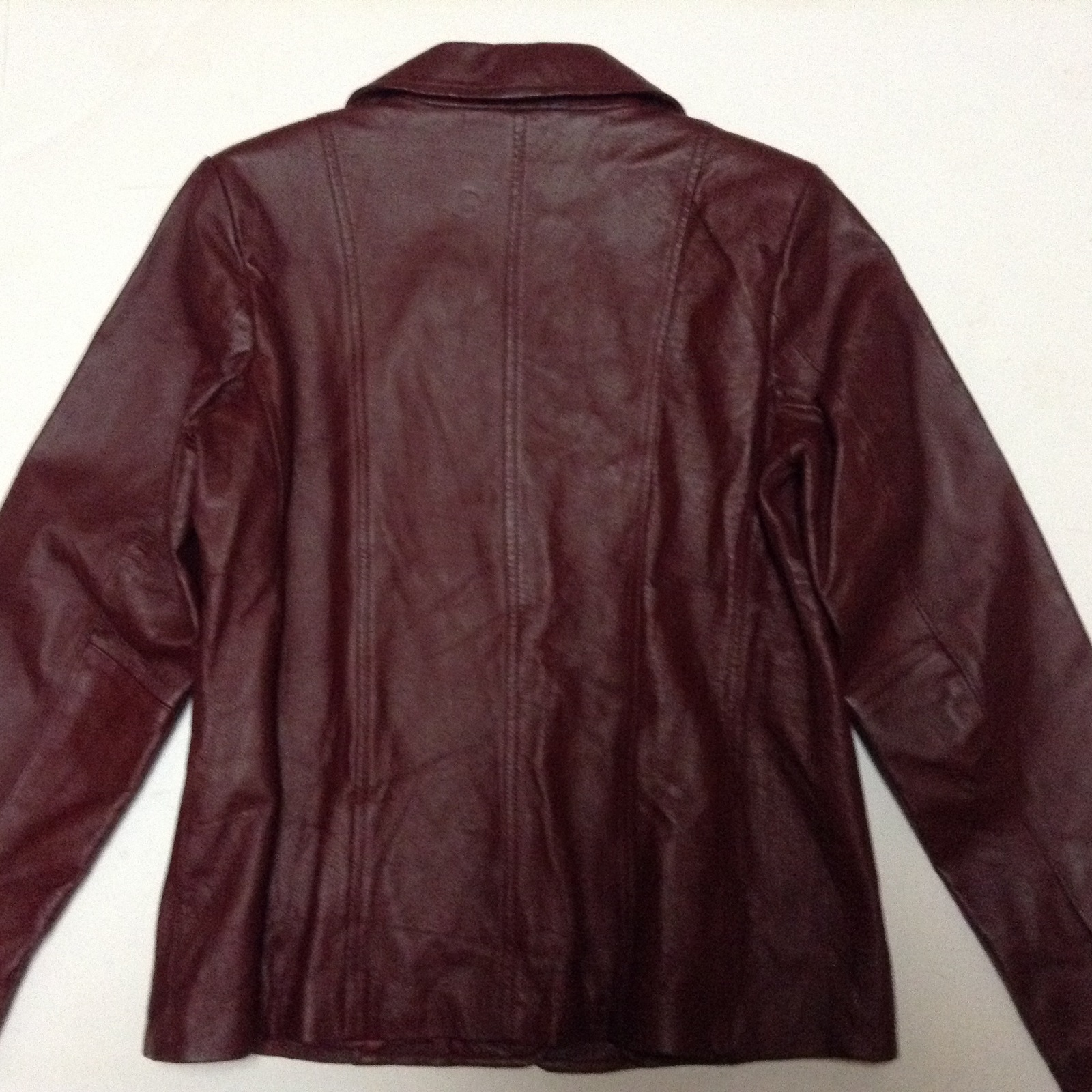 Dialogue 100% Leather Jacket NWT Size S Maroon Red