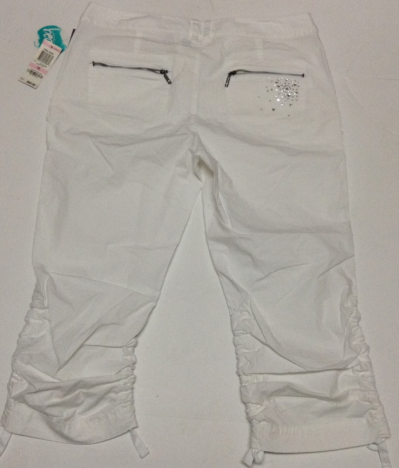 I.N.C. Beach Bright White Capris NWT Size 10 Macy's
