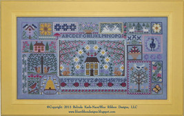 CLEARANCE Blue Jeans & Daisies MYSTERY SAMPLER 3 charts Blue Ribbon Design  - $17.00