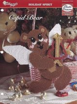 Cupid Bear, Valentine's Day Home Decor Plastic Canvas Pattern Leaflet TN... - $2.69