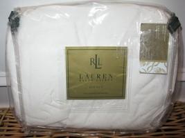 Ralph Lauren AVENUE Damask Paisley King Bedskirt White - $56.00