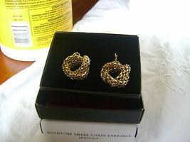 Avon Goldtone Snake Chain Hook Earrings (Pierced)  New In Box - $14.12