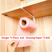 Kitchen Paper Hanger Sink Roll Towel Holder Organizer Rack Space Save Ba... - $26.33 CAD