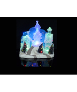 Electric Snow Village - Blue crystal color - Christmas snow scene - mant... - $45.00