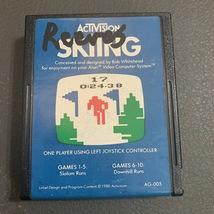 ATARI 2600 Skiing tested Activision video game cartridge AG-005 slalom downhill - $1.99