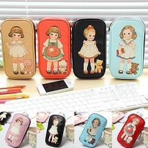 Women Cute Cartoon Doll Girl Pattern Pen Pencil Case Bag Cosmetic Makeup... - $12.99