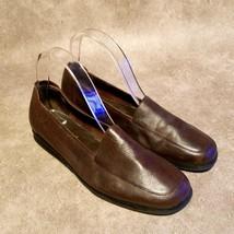 Lizflex by Liz Claiborne Womens Charleston Sz 9 Brown Leather Slip On Loafers - $29.99