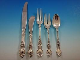 Violet by Wallace Sterling Silver Flatware Set Service 30 pieces No Mono... - $1,615.50
