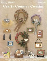 Crafty Country Cousins Kappie Book 218 Felt Pom Pom Ribbon Home Craft Pr... - $2.84