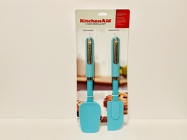 KitchenAid 2 Piece Spatula Set, Spoon & Scraper Spatula, Aqua NIP - €31,61 EUR