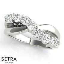 Certified 14K Gold Round Cut Diamond Bypass Wedding Band Ring Fine  - $1,499.00
