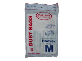 VCB Brand Disposable Vac Bags for Hoover Dimension Cleaners  Type M ~ 3 Bags