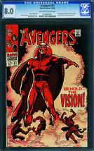 Avengers #57 CGC 8.0 - first appearance of THE VISION! Marvel 0216885001 - $843.90