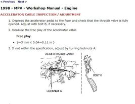 1996-1998 Mazda MPV Factory Repair Service Manual - $15.00