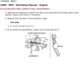 1996-1998 Mazda MPV Factory Repair Service Manual - $15.00