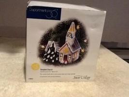 Dept 56 Ornament Snow Village - Steepled Church Ornament - #98643 - Mint In Box  - $8.95