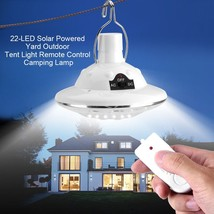New 22LED Outdoor/Indoor Solar Lamp Hooking Camp Garden Lighting Remote ... - £8.49 GBP