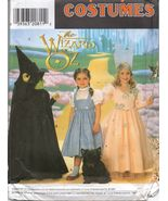 Simplicity 7801 WIZARD OF OZ DOROTHY GLINDA WITCH COSTUMES 3-8 OOP - $28.00