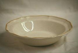 "Garden Club by Mikasa 9-3/4"" Round Vegetable Bowl Rim Shape Tan Trim EC4... - $28.70"