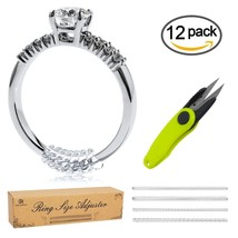 Silicone Ring Size Adjuster Reducer 12pcs Scissors Loose Ring Guard Jewelry - $10.28
